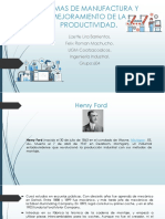 Sistemas de Manufactura y Mejoramiento de La Productividad