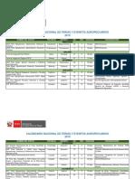 Calendario de Ferias Agropecuarias 2019-Por Region