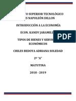 Tipos de Bienes y Servicios Economicos