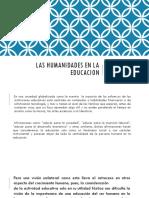 Pps_las Humanidades en La Educacion
