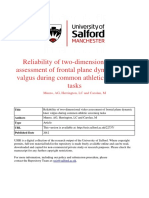 Reliability of Two-dimensional Video Assessment of Frontal Plane Dynamic Knee Valgus