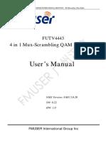 The English Manual of FUTV4443A 4in1 Mux-scrambling QAM