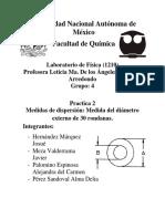 Practica 2.- Medida Del Diametro Externo de La Rondana
