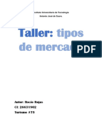 Taller Tipos de Mercado