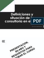 S1 Introducción y Definiciones de Consultoría