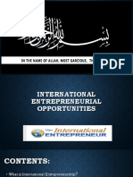 What is International Entrepreneurship?