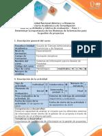 Guía de Actividades y Rúbrica de Evaluación - Paso 1 - Determinar La Importancia de Los Sistemas de Información Para La Gestión de Proyectos