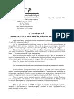 20190903 Communiqué Santé