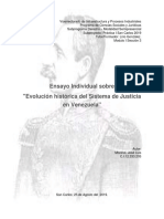 Evolución Histórica Del Sistema de Justicia en Venezuela
