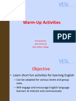 WARM-UP ACTIVITIES