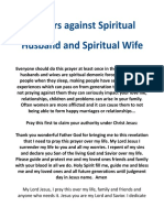 Prayer Against Spirit Husband or Wife(1)