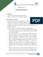 Practica n° 6 - Elaboración de panela