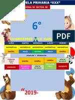 Horario Escolar 2019 2020 Editable