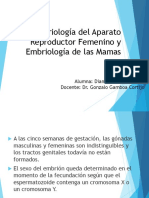 Embriologia de Aparato Reproductor Femino