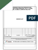 Vendor List (PGE) 100719