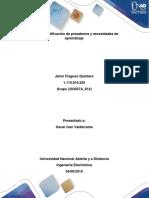 Guía de Actividades y Rúbrica de Evaluación - Paso 1 - Identificación de Presaberes y Necesidades de Aprendizaje (Autoguardado)