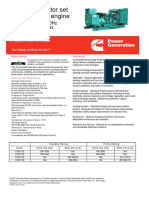 Cummins C550D5 Diesel Generator Spec Sheet