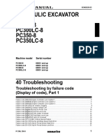 PC350-8 Troubleshooting by Failure Code