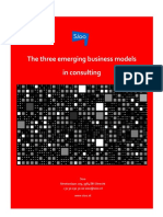 The Three Emerging Business Models in Consulting Sioo