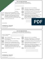 Checklist - CSO Accreditation