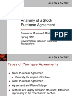 Anatomy of a Stock Purchase Agreement