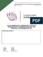 Ley de Ingresos 2019 - Morelos