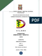 2 Semestre - Silabus de Embriologia y Genetica