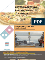 Integrated Marketing Communication of dominos