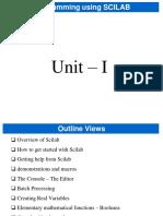 Scilab Unit 1
