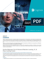 Advanced Machine Learning and Artificial Intelligence