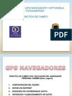 Utilizacion Gps Garmin y App Mobile Topographer