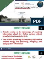 Satellite based remote sensing