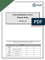 DPS-REL-775 Rev01 Ctrack Dashboard 3.23.1 Release Notes