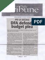 Daily Tribune, Sept. 5, 2019, DFA defends budget plea.pdf