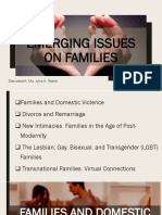 5 Emerging Issues on families