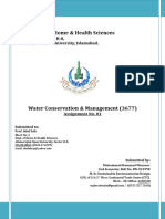 Solution-3677 Water Conservation & Management 1st Assignment