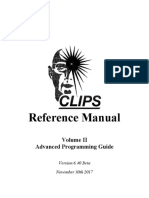 CLIPS Reference Manual 6.40 Vol II