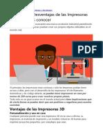 7 Ventajas y Desventajas de La Impresora 3D