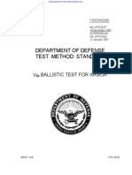MIL-STD-662F Balistic Test for Armor