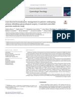 manejo de líquidos cirugia Gineco-oncológica