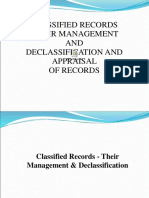 CLASSIFIED_RECORDS_-_THEIR_MANAGEMENT_AND_DECLASSIFICATION_AND_APPRAISAL_OF_.ppt