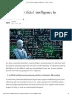 Roles for Artificial Intelligence in Education - Venkat k - Medium
