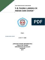 Daftar Flora & Fauna Langka Di Indonesia & Dunia