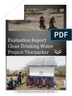 Evaluation Report for Clean Drinking Water Project