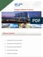Coal supply Outlook in Korea