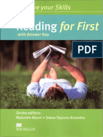 Improve Your Skills Reading for First With Answer Key Macmil