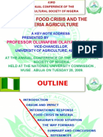 Global Food Crisis and the Nigeria Agriculture