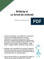 Bullying În Instituție de Învățământ