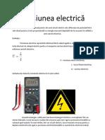Tensiunea electrica