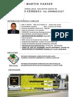 Curriculum Vitae Santiago Yansen 2019 actualizado